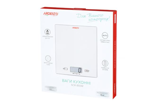 Ваги кухонні Ardesto SCK-893W