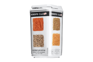 Контейнер для сипучих продуктів Ardesto Fresh вакуумний AR13125WP (1.25 л)