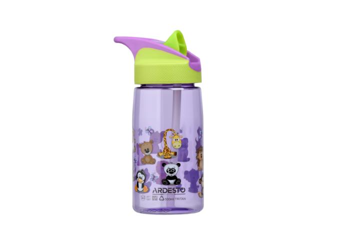Kids Water Bottle Ardesto Funny Animals (500 ml) AR2201TA