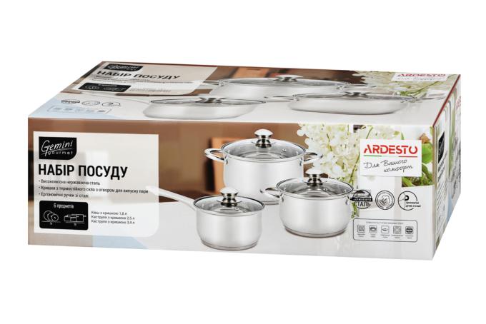 Набір посуду Ardesto Gemini Gourmet AR1906PS