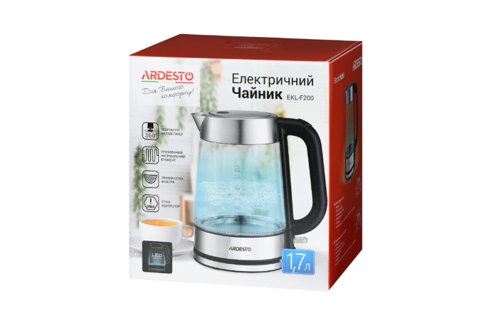 Електрочайник Ardesto EKL-F200