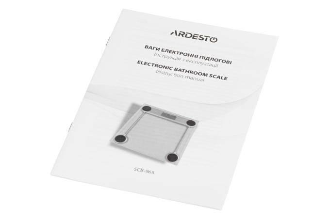 Весы напольные Ardesto SCB-965BL