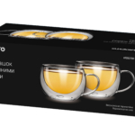 Cups set Ardesto with double walls for latte AR2627GH