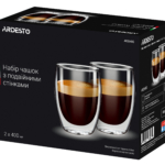 Cups set Ardesto with double walls AR2640G