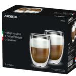 Набір чашок Ardesto з подвійними стінками для лате AR2645G