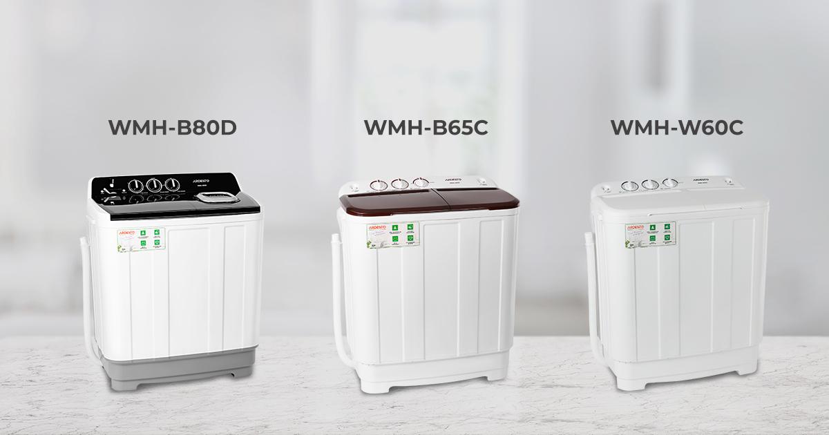 Нові напівавтоматичні пральні машини Ardesto – WMH-W60C, WMH-B65C та WMH-B80D