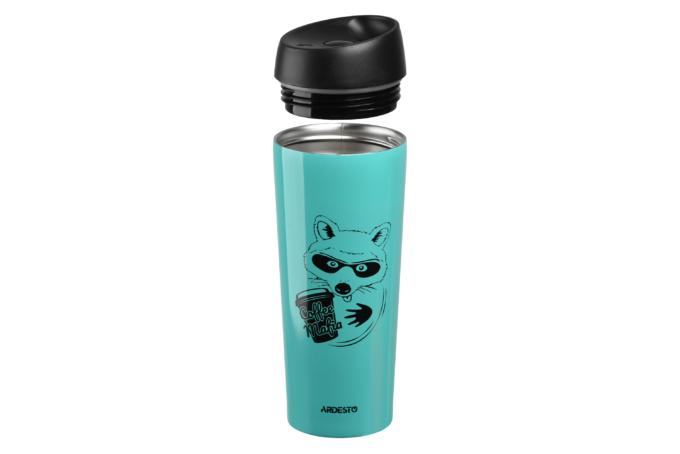 Thermal Mug Ardesto Coffee time (Raccon) 450 ml AR2645DTB