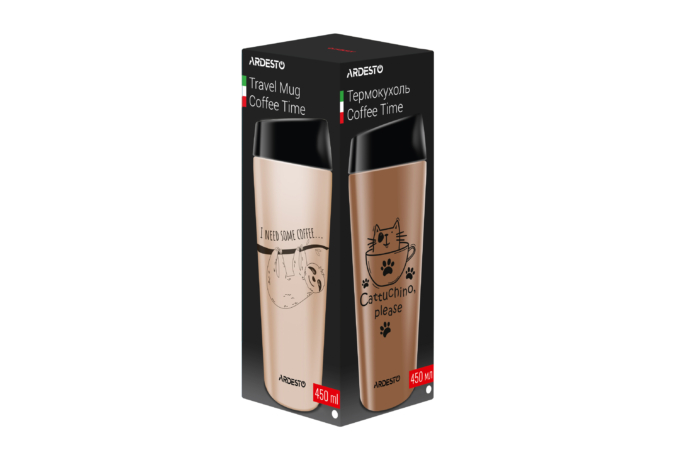 Thermal Mug Ardesto Coffee time (Raccoon) 450 ml AR2645DML