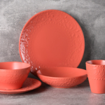 Тарелка суповая Ardesto Olbia, 20 см, Deep orange