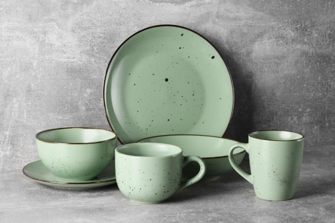 Dinner plate Ardesto Bagheria, 26 cm, Pastel green