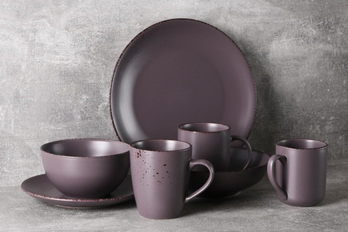 Тарелка обеденная Ardesto Lucca, 26 см, Grey brown