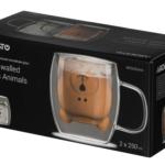 Набор чашек Ardesto Animals с двойными стенками AR2625GHA