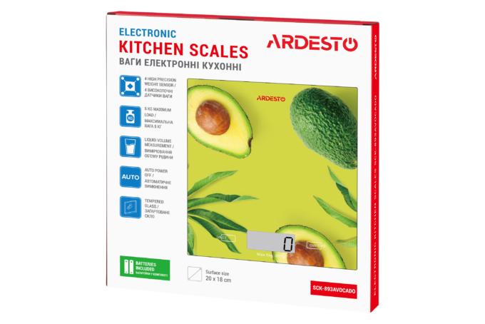 Весы кухонные Ardesto SCK-893AVOCADO
