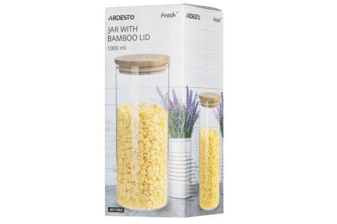 Ardesto Fresh series storage jar round, 1000 ml