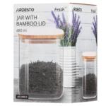 Ardesto Fresh series storage jar, square, 480 ml